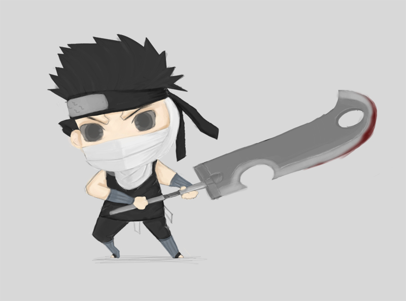 chibi Zabuza by BlueBubble-L