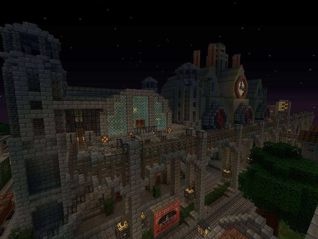 [Minecraft] Steampunk City by SquidEmpire on deviantART