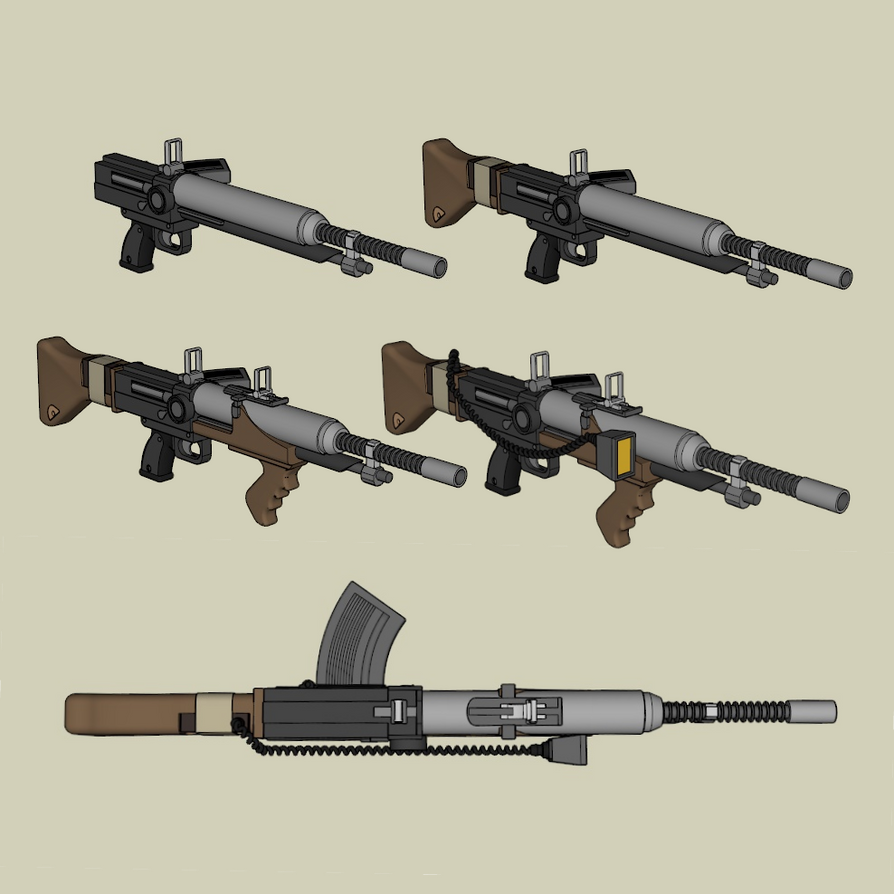 dieselpunk automatic rifle by squidempire on deviantart
