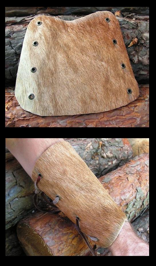 Bracer with deer hide by Glapsvidur