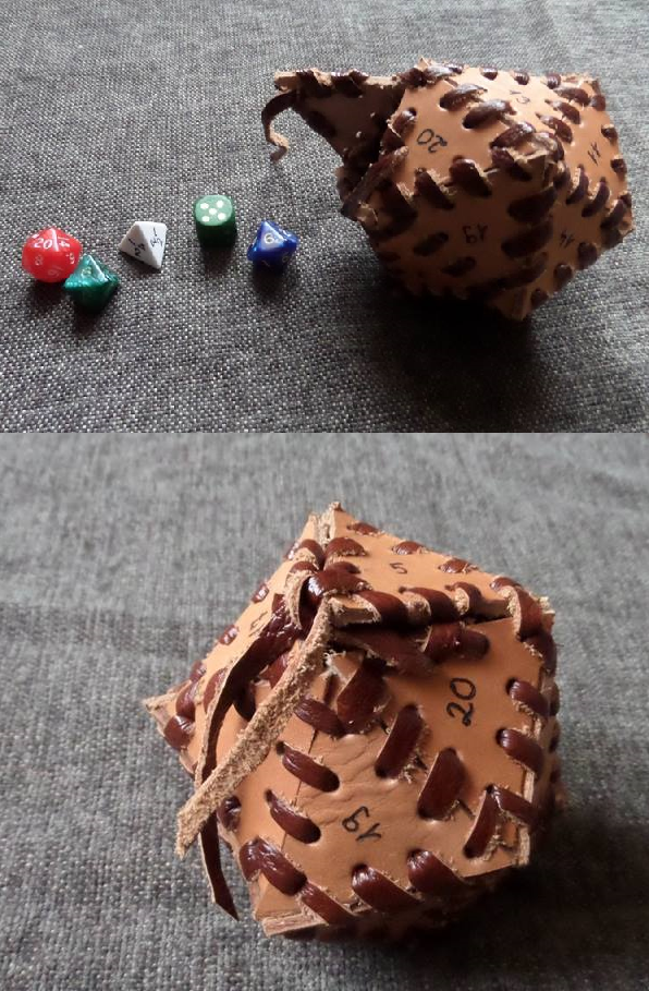 D20 shaped dice holder by Glapsvidur