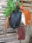 Leather pouches by Glapsvidur