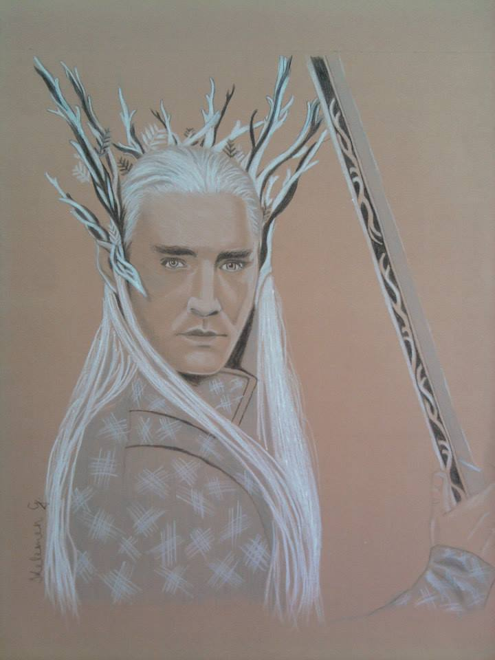 Relatively My Thranduil drawing on brown paper :) by Gabriella104 on DeviantArt ND55