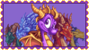 Spyro And The Guardians (Stamp) by Liam-The-Gamer