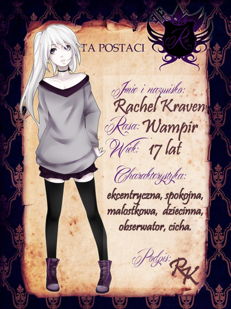 RU : Karta postaci : Rachel by seethli