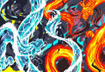 Water dragon and fire dragon - changchung