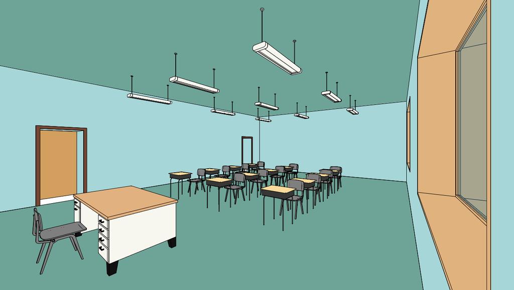 Empty Classroom Wallpaper Pre Anime Te
