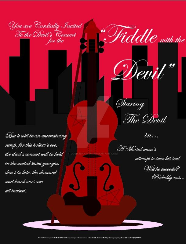 Devil's Fiddle Concert Flyer. by JoshJenkins6