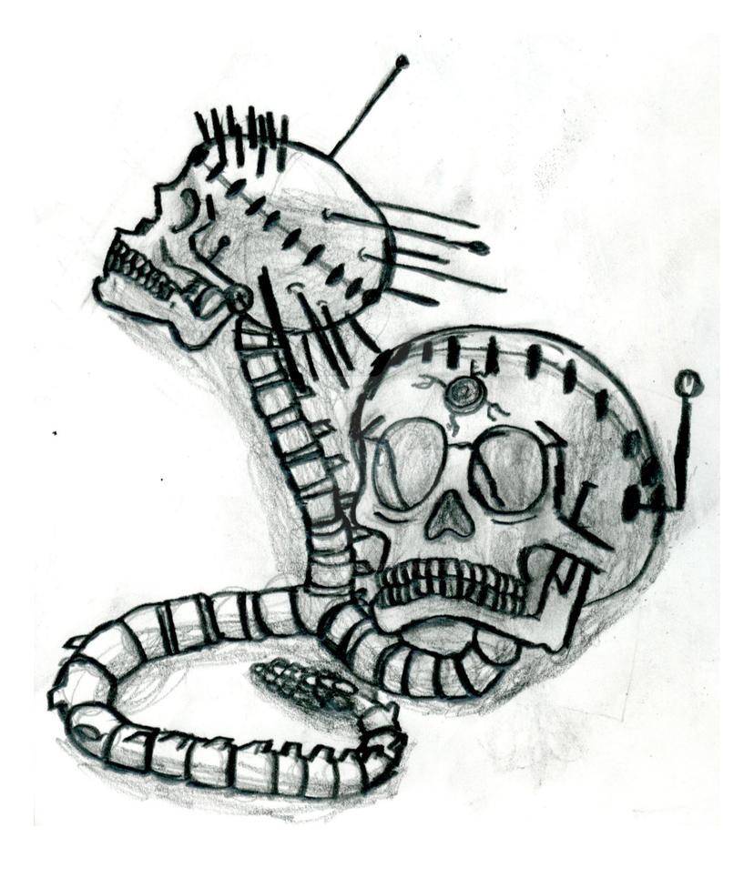 Two Headed Skull Snake By Joshjenkins6 On Deviantart