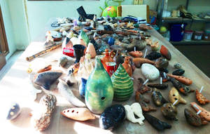 my ocarina collection June 2013 by Geotjakra