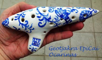 Meissen Inspired Ocarina by Geotjakra