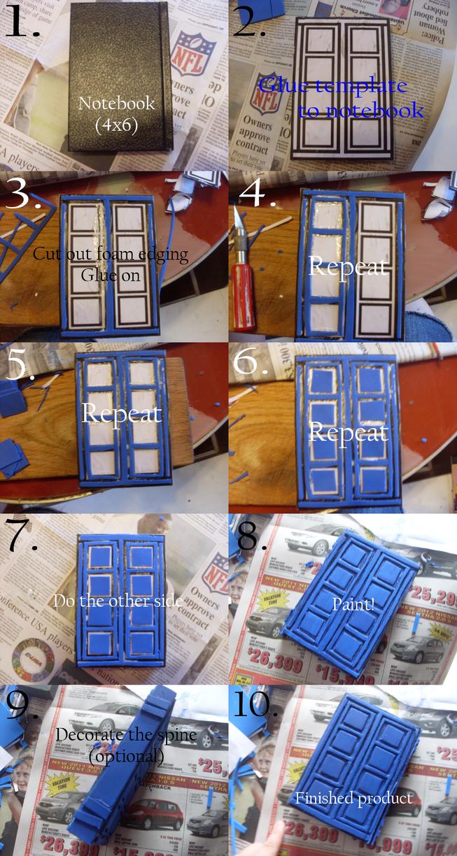 Tutorial: TARDIS journal by katien22