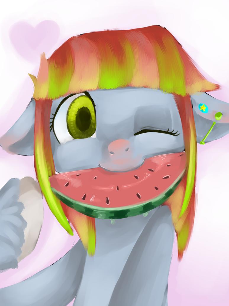 Melon-drop pony by kmrShy