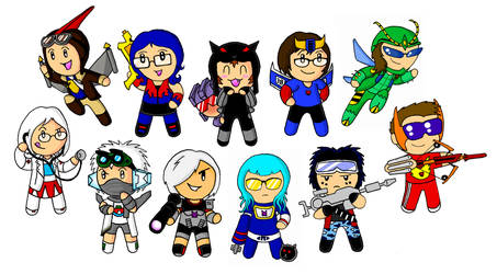 Auto Assembly chibi party by ChrisMcFeely