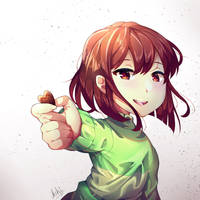 Chocolate of LOVE - Chara Fanart by yourcupofkohi