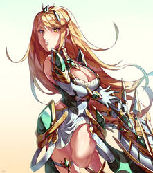 Mythra by yourcupofkohi