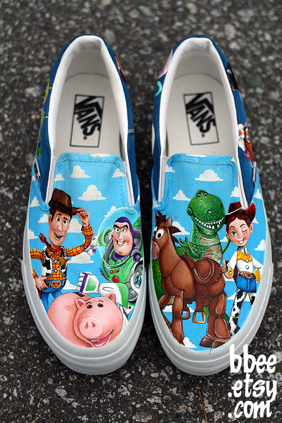 Toy Story Slippers : Toy story shoes by bbeeshoes on deviantart