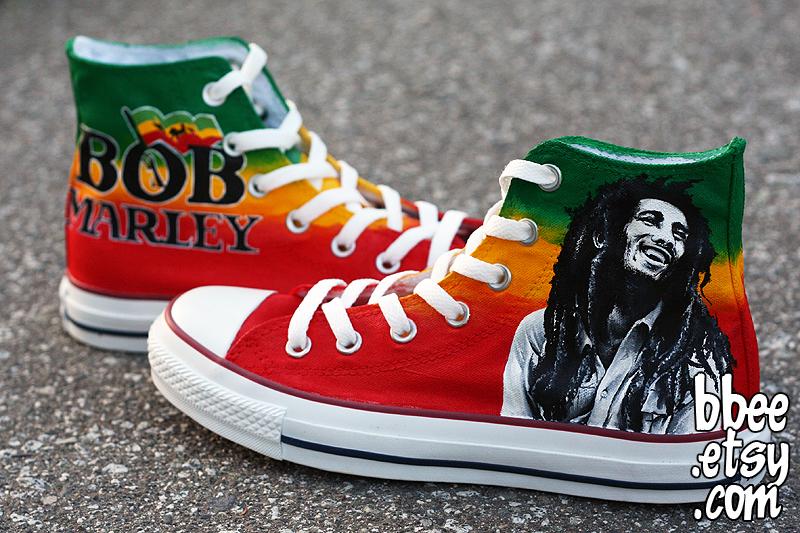 Bob Marley Converse by BBEEshoes
