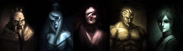 Kages of the 5 Countries