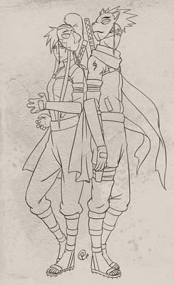 ANBU Nane and Kakashi