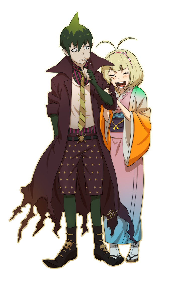 Amaimon and Shiemi by Roggles