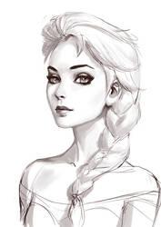 Elsa Sketch by Roggles