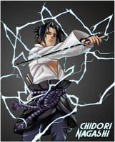 Sasuke - Chidori Discharge by Roggles