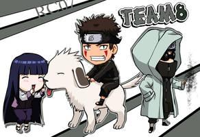 Chibi Team 8 by Roggles