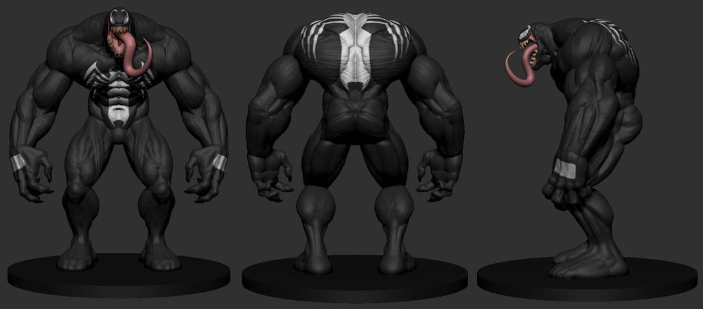Venom Turnaround Color By Sankart On Deviantart