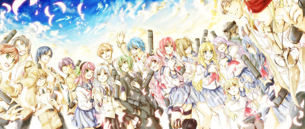 The Members of Angel Beats! Who Alive Afterdeath!!!
