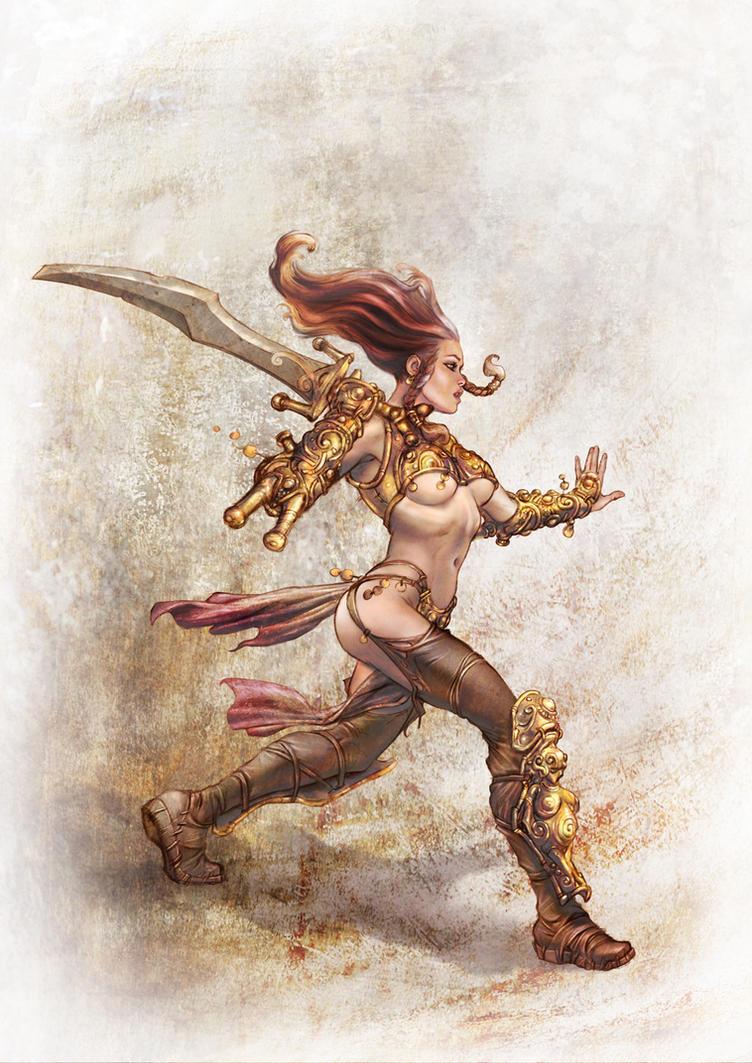 Barbarian Lady - A by fuchsiart