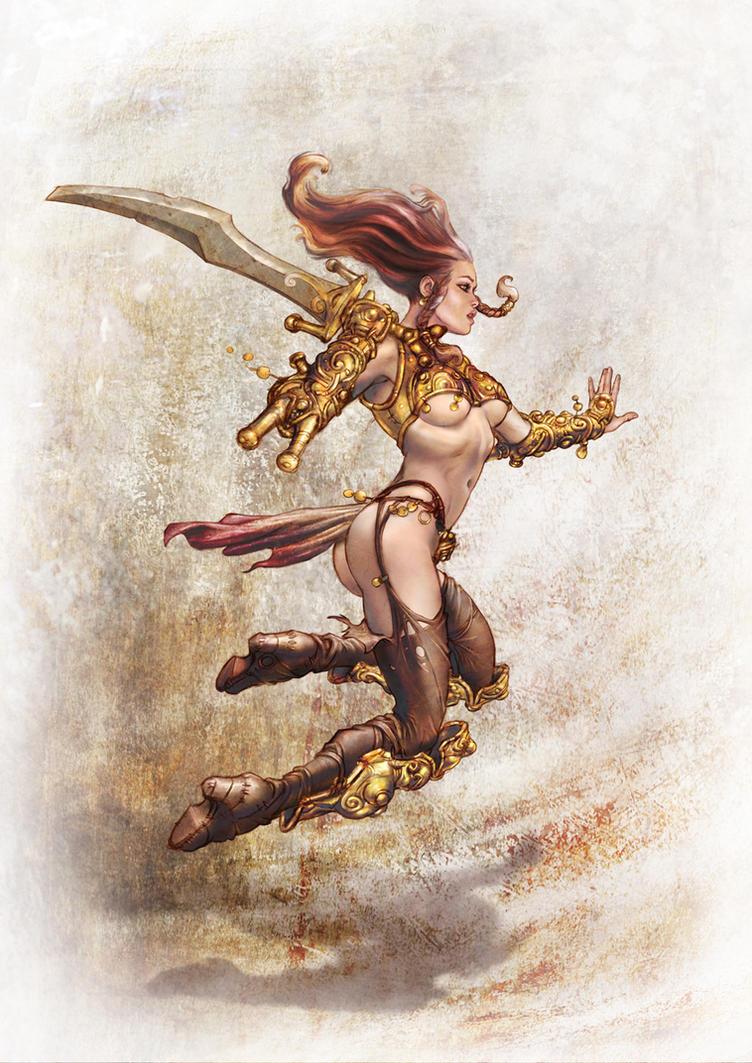 Barbarian Lady - B by fuchsiart
