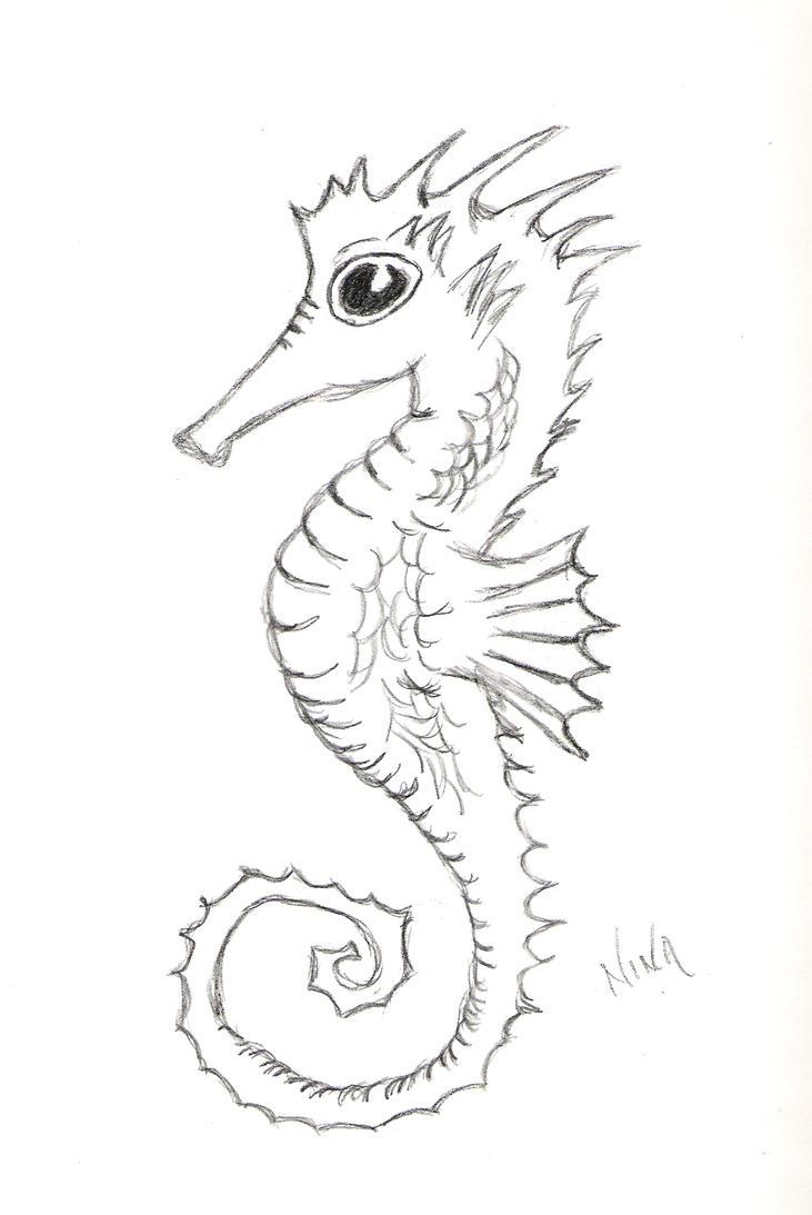 seahorse wip by flina