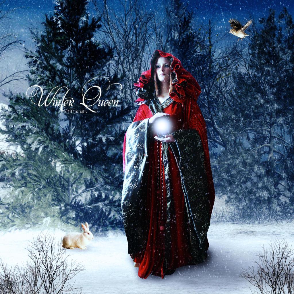 winter queen by flina on deviantart. Black Bedroom Furniture Sets. Home Design Ideas