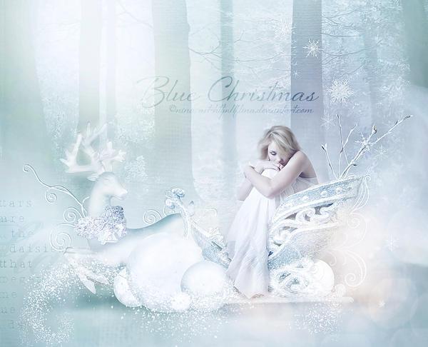 Blue Christmass by flina