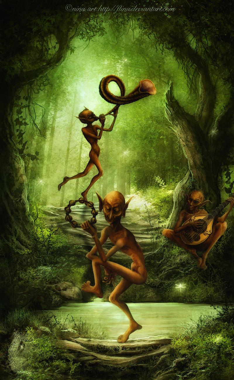 Elven Musicians by flina