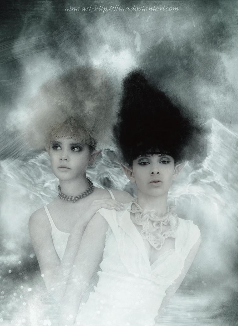 Sister Elves by flina