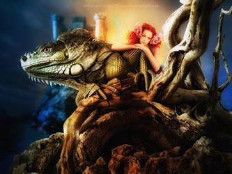 Tiny and The Dragon by flina