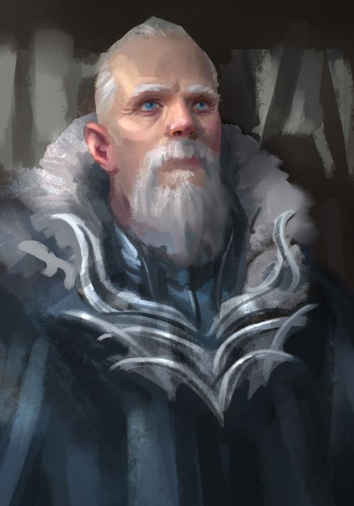 frosty beard by NathanParkArt