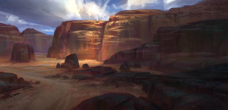 Barren land by NathanParkArt
