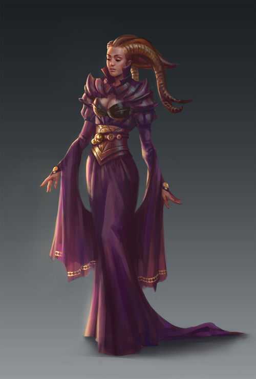 Purple priestess by NathanParkArt