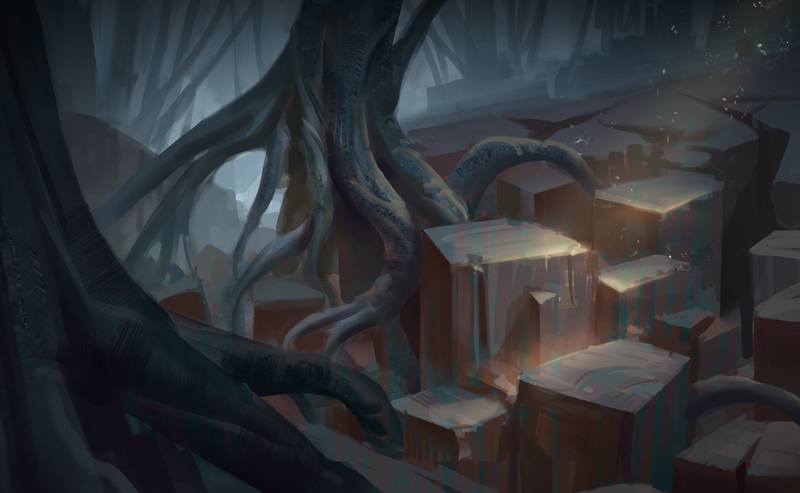 Spooky Ruins by NathanParkArt
