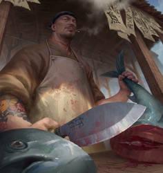 Fishmonger by NathanParkArt