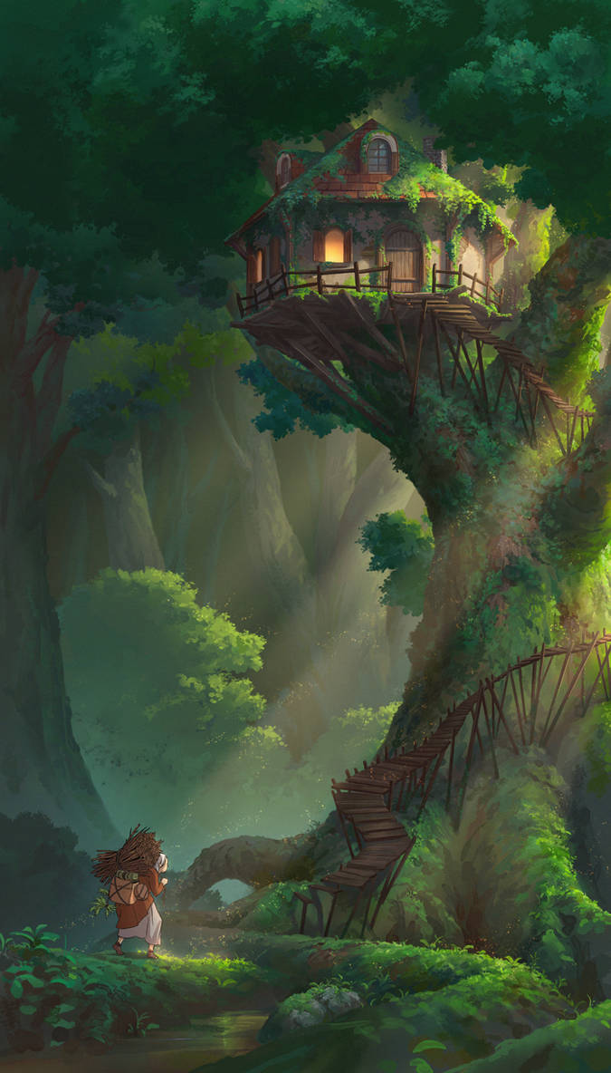 Treehouse by NathanParkArt