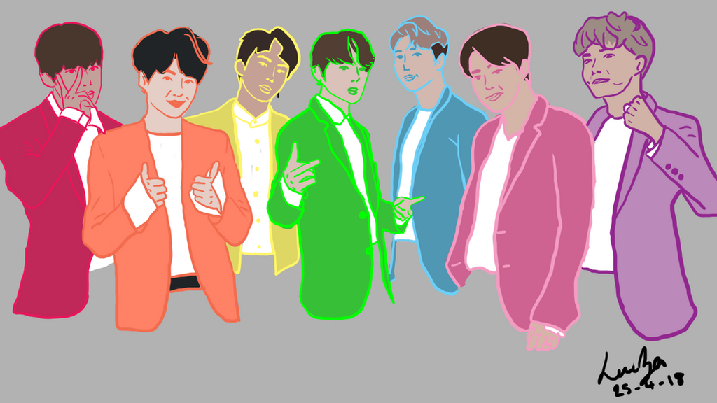 BTS Artwork without logo by Brownielonglegs