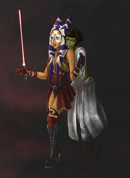 Ashara and Doriala by SkiraReed