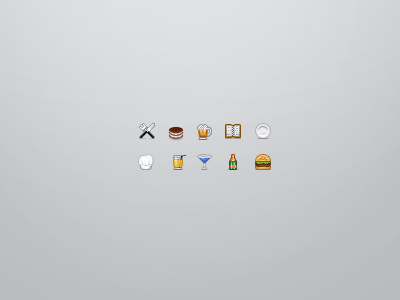 Restaurant Icons by nahas-pro