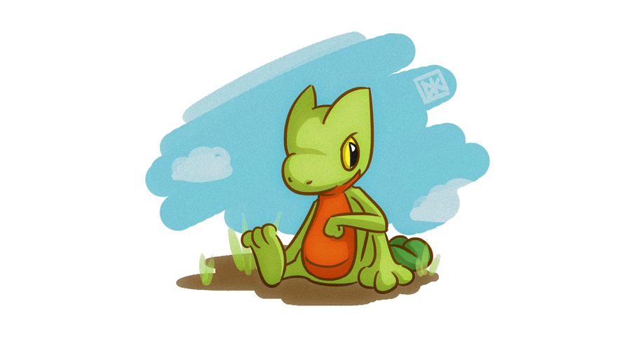 Pokemon Alpha Sapphire - Treecko by Dei-bon