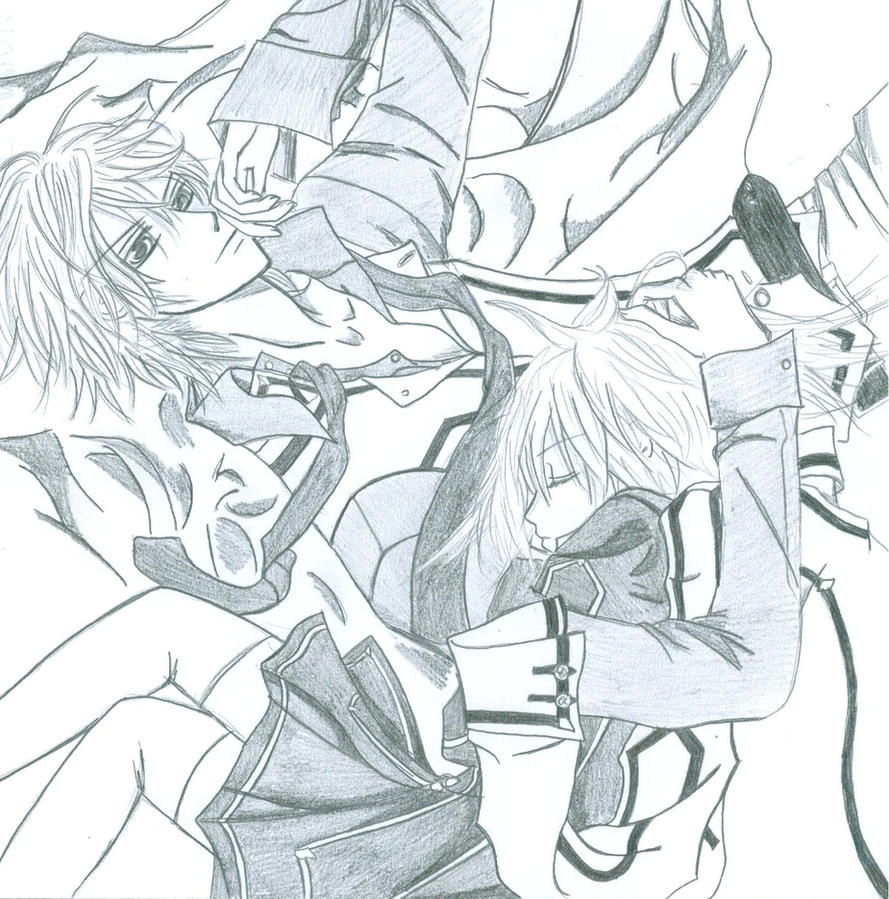 Anime vampire girl coloring pages for Vampire knight coloring pages