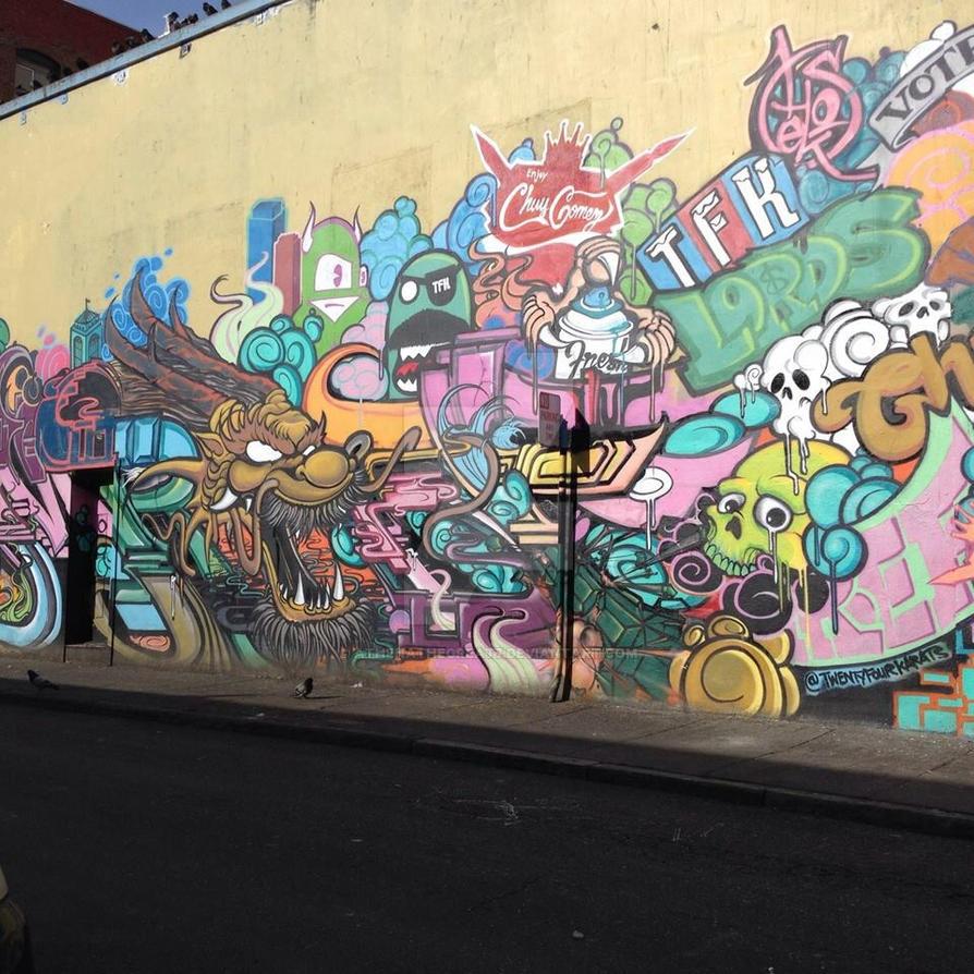 Street art by athenathegreat7